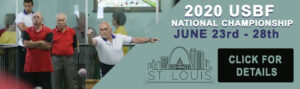 Banner for the 2020 United States Bocce Federation USBF Championship